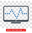Pulse Chart Eps Icon vector image