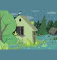 rainy day frogs cartoon vector image