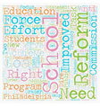 School Reform Is Hot Topic For Philadelphia vector image vector image