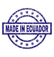 scratched textured made in ecuador stamp seal vector image