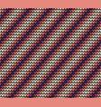 seamless violet diagonal knitting pattern vector image vector image