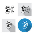 set ear icon side view in linear style vector image vector image