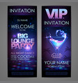 set of disco background banners big lounge vector image vector image