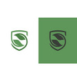 shield green logo vector image vector image