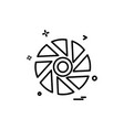 shutter icon design vector image