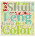 Significance of Colors in Feng Shui practice text vector image vector image