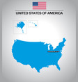 simple outline map united states america vector image