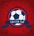 soccer world cup tournament vector image vector image