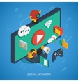 Social Network Isometric Composition vector image