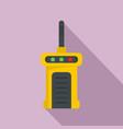 talkie radio icon flat style vector image vector image