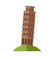 tower pisa vector image