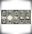 Vertical Money Bills vector image vector image