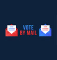 vote mail stay safe concept 2020 united vector image