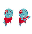 zombie isometric boy costume halloween children vector image vector image