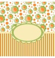 Retro design template with flovers vector image