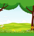 landscape with tree and flower vector image