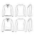 set of polo shirts vector image
