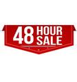 48 hour sale banner design vector image
