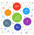 7 measuring icons vector image vector image
