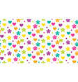 abstract polka dot traditional floral pattern vector image vector image