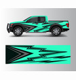 abstract racing graphic background for offroad vector image vector image