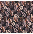 Abstract tropical leaves seamless pattern in