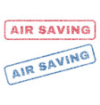 air saving textile stamps vector image vector image