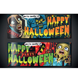 Banners Invite for Halloween Party vector image vector image
