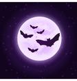bats with moon Halloween vector image