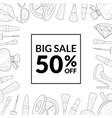 big sale special offer banner template sale vector image