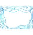 blue and dark blue decorative doodles waves frame vector image vector image