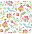 boho floral pattern vector image vector image