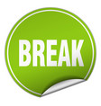 break round green sticker isolated on white vector image vector image