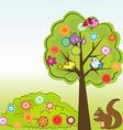 Cartoon greeting card vector image