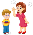cartoon Mather scolding her son vector image vector image