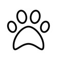 cat paw print flat icon symbol vector image vector image