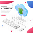 cloud computing technology isometric vector image