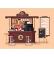 Coffee shop interior vector image