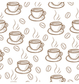 Coffee sketch hand drawing pattern vector image vector image