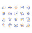 creativity line icons set of design idea and vector image