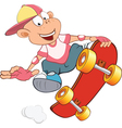 Cute Little Boy Skateboarding vector image vector image