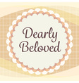 cute orange brown cream lace card with gingham vector image vector image