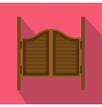 Doors in western saloon icon flat style vector image vector image