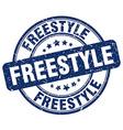 freestyle blue grunge round vintage rubber stamp vector image vector image