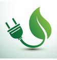green eco power plug design vector image vector image