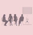 group four women sitting together talking vector image