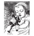 gulliver and baby are playing vintage engraving vector image vector image