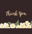 horizontal template wedding gratitude card vector image vector image