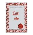 Invitation postcard Eat Me Cookie from Wonderland vector image vector image