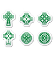 Irish Scottish Celtic cross on white sign vector image vector image